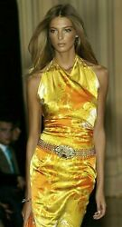 Gianni VERSACE Spring 2005 Silk Stretch Baroque Runway Dress US 2 4 6 IT 42