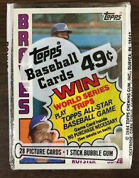 1984 TOPPS Cello Pack JERRY ROYSTER on Top GORMAN THOMAS on Back A1020625 $13.99