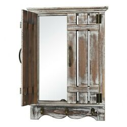 Rectangular Wall Mirror With Wooden Doors Made Of Fir Wood Iron Mdf Mirror In $53.04