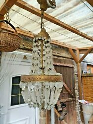 crystal chandelier French art deco restoration project $222.59