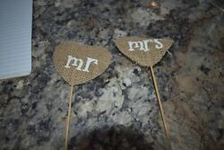 Mr amp; Mrs Burlap Banner Wedding Rustic Decoration Cute $3.00
