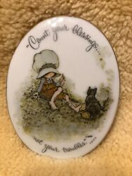hollie hobby wall plaque count your blessings made in Japan $15.00