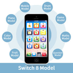 Kids Music Toy Black Cell Phone Educational Learning Touch Screen Toy Child Gift $9.69