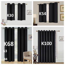 12PC100% BLACKOUT UNLINED HEAVY THICK THERMAL PANELS WINDOW CURTAIN TREATMENT  $22.00