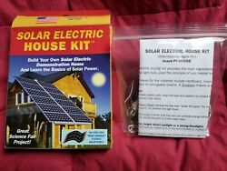 Solar Made Electric Kit for Science Fair Project Build Environment Friendly Home $15.00