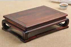 Chinese Natural Rosewood Wooden Table Rack Coffee Tea Laptop Leisure Desk $125.00