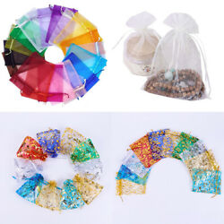 US 50~200 Sheer Coralline Organza Favor Gift Bags Jewelry Pouches Wedding Party $5.94