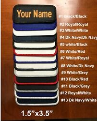 IRON-ON Custom Embroidered Name Patch, Name Tag,Name Badge Rectangular 1.5
