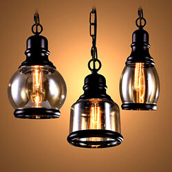 Industrial Pendant Light Vintage Hanging Lights Retro Lamp Fixtures Cafe Kitchen $24.95