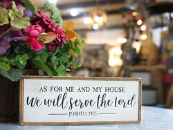 Paris Loft As for Me and My House We Will Serve The Lord Wood Rustic Wall Sign $15.99