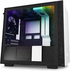 NZXT H210i White RGB Mini ITX Tower Case Tempered Glass Desktop Computer Case $74.99