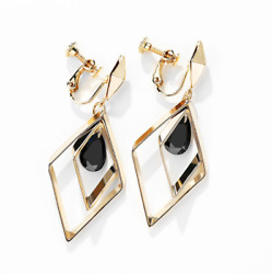 Women DANGLE DROP CRYSTAL Geometric CHANDELIER CLIP SCREW BACK EARRINGS Gift S5 $12.95