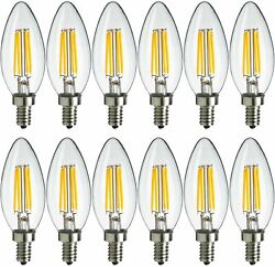 12x MaxLite LED Chandelier Bulbs 4W 40W Enclosed Fixture Rated Dimmable E12 $19.99