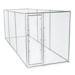 Lucky Dog 10 x 10 Ft. Outdoor Chain Link Dog Kennel Enclosure w Door Open Box $319.99