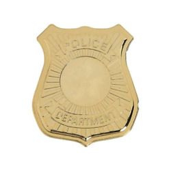 1 Dozen Gold Plastic Police Badges: Party Favors or Police Awareness giveaways $6.00