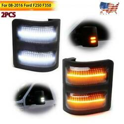 For Ford F250 F350 08-2016 Smoked Lens LED Side Mirror Marker Lights Switchback $22.99