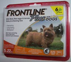 Frontline Plus For Dogs Small Dog 5 22 pounds 6 Dose Flea amp; Tick Treatment NEW $39.84