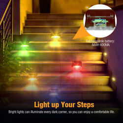 8 pack New Solar Deck Lights Outdoor Waterproof LED Steps Lamps for Stairs Fence $15.92