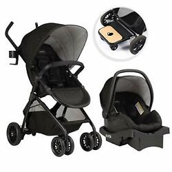Evenflo Sibby Travel System with LiteMax 35 Infant Car Seat Charcoal Open Box $187.99