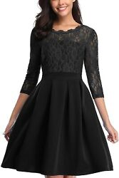 Freeprance Vintage Lace Cocktail Dresses for Women Party Wedding Short Bridesmai $29.99