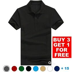 Men#x27;s Polo Shirt Golf Sports Cotton Short Sleeve Jersey Casual Plain T Shirt New