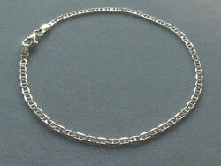 NEW 10quot; ITALIAN STERLING SILVER ANKLE BRACELET MARINA LINK 060 ITALY 925 $16.99
