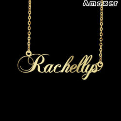 Personalized Custom Nameplate Pendent Name Necklace Lettering Stainless Steel  $6.39