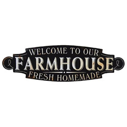 New Rustic Country WELCOME TO OUR FARMHOUSE SIGN Metal Plaque Distressed 20.5quot; $14.95