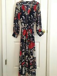 Floral Maxi Dress Small Long Sleeve $30.00