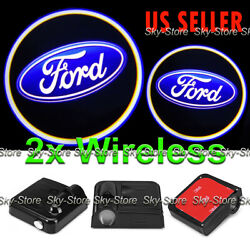 2x Wireless Ghost Shadow Laser Projector Logo LED Door Step Light Courtesy FORD $16.50