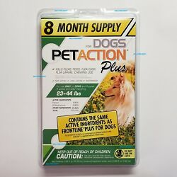 PetAction Plus For Dogs 8 Doses Treatments Medium 23 44 lbs SEALED PET ACTION $17.50