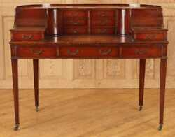 Gorgeous American Regency Style leather top Carlton Desk Mahogany  50 inches $1,495.00