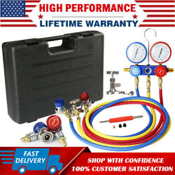 HVAC AC Air Refrigeration Kit AC Manifold Gauge Valve Set Brass R134A R410A R22 $52.99