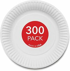 Stock Your Home 9-Inch Paper Plates Uncoated White 300 Count $13.99