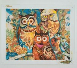 Owles watching you home decor wall Oil Painting $30.00