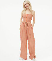 aeropostale womens striped smocked-bodice jumpsuit $27.25