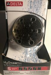 Delta 52638-SS15-PK 5 Setting Contemporary H2OKinetic Showerhead Stainless NEW $109.95