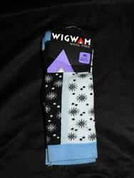 Wigwam M Blue Black Star Socks NWT Womens Tencel Nylon Dri Release Size 6 10 $9.99