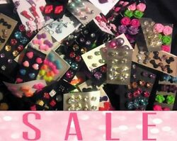 Wholesale Jewelry Lot New Stud Earrings 100 pairs FREE SHIPPING ❤️Quality❤️US