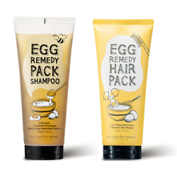 Too Cool For School Egg Remedy Pack Shampoo 200g amp; Hair Pack 200g Set $32.98