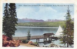 Rocky Mountain National Park Colorado 1940s Postcard Grand Lake Rabbit Ear Range $4.35