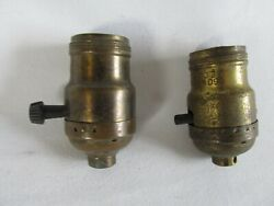 Vintage Lamp Sockets Brass Lamp Parts GE Co. Lot of 2 $15.00