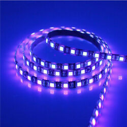 5M 5050 300 LED Strip Waterproof UV Purple Ultraviolet Flexible Fish Black Light