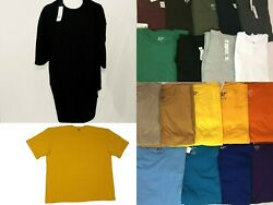 Big & Tall Tee Shirts - Short Sleeve Solid Crew Neck Casual Tops Size 5X to 10X $13.40