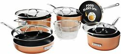 Gotham Steel Stackmaster Pots & Pans Set – Stackable 10 Piece Cookware Set! NEW $119.99