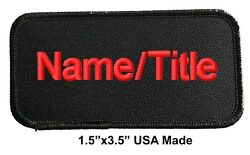 Custom Personalized Embroidered Monogrammed Name Patch Name Title Tag 1.5quot;x3.5quot; $4.69