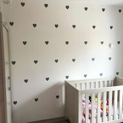 Heart Baby Room Decorative Stickers Girl Bedroom Wall Decal Stickers Children $7.19