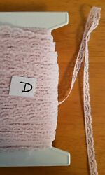 Vintage tiny lace for baby doll clothes 3 8quot; Pink 10 yards crafts trims Lot D $5.00