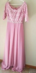 ELEGANT BRIDESS CHURCH MOTHER OF BRIDE GROOM EVENING SZ10 GOWN CLASSY LONG DRESS $29.99