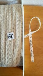 Vintage tiny lace for baby doll clothes 3 8quot; Ivory 10 yards crafts trims Lot G $5.00